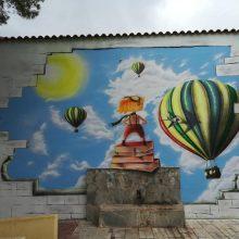 Η νέα τοιχογραφία αυτού του Δημοτικού Σχολείου πυροδοτεί τη φαντασία και την έμπνευση των μαθητών