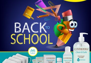 Back to school διαγωνισμός by Coverderm: Κερδίστε 3 πακέτα με αντισηπτικά χεριών και μάσκες πολλαπλών χρήσεων