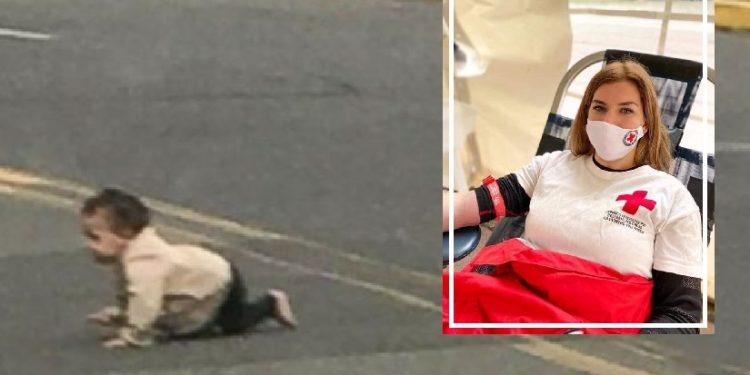 Ελασσόνα: Αυτή είναι η εθελόντρια του Ερυθρού Σταυρού που έσωσε το μωράκι που μπουσούλαγε στον δρόμο