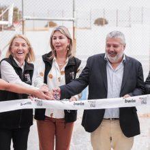 Η Ζέττα Μακρή εγκαινίασε τα 3 υπερσύγχρονα γήπεδα που απέκτησαν σχολεία της Σαμοθράκης